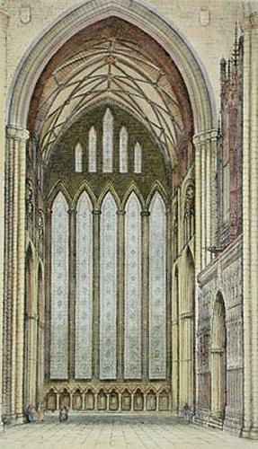 York, Five Sisters (Restrike Etching) by Anonymous