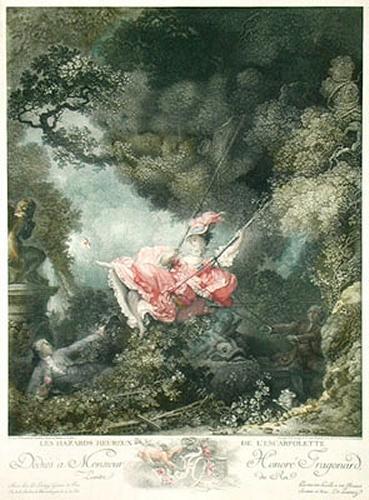 The Swing (Restrike Etching) by Jean-Honoré Fragonard