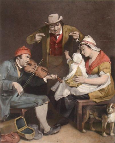 Blind Fiddler (Detail) (Restrike Etching) by Wilkie