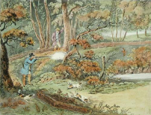 Woodcock Shooting (Restrike Etching) by Henry Alken