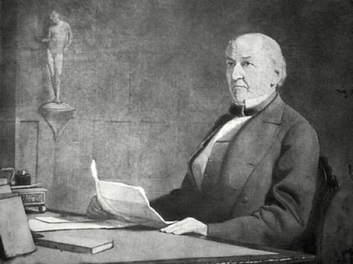 Gladstone, Rt. Hon. W.E. (Restrike Etching) by Percy Bigland