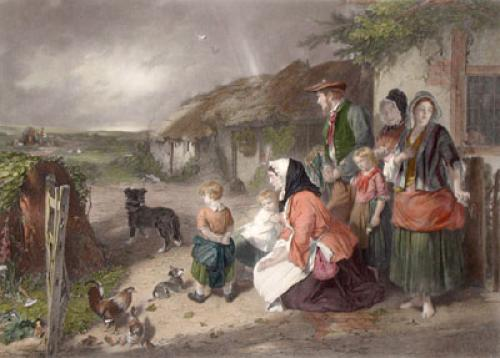 First Break in the Family (Restrike Etching) by Thomas Faed