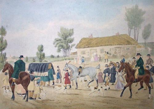 Tom Moody - Plate 3 (Restrike Etching) by James Pollard