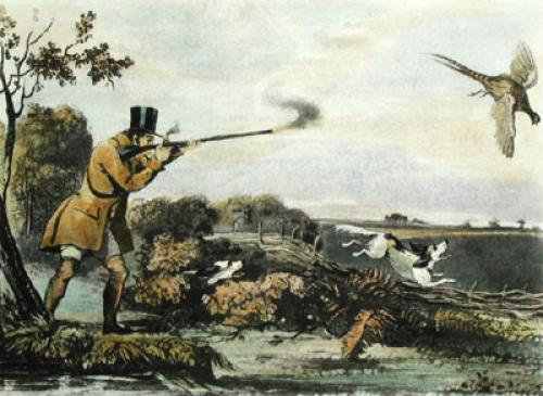 Pheasant Shooting (Restrike Etching) by Henry Pyall
