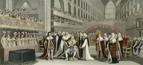 Coronation of King George IV (Restrike Etching) by J. Fussell