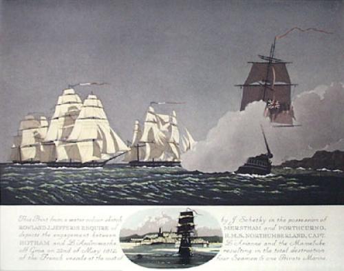 HMS Northumberland - May 1812 (Restrike Etching) by Geoffrey S. Garnier