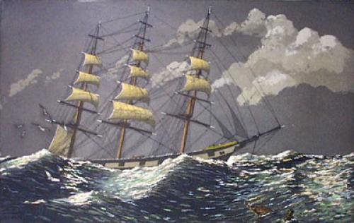 Sailing the Moonlit Sea (Restrike Etching) by Geoffrey S. Garnier