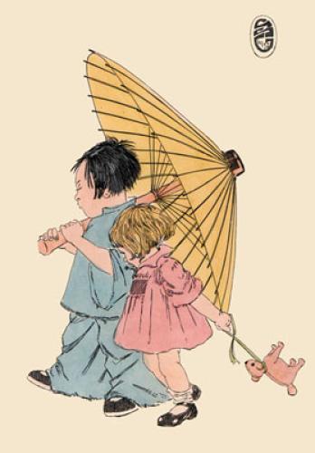 Oriental-Good Companions (Restrike Etching) by Geoffrey S. Garnier