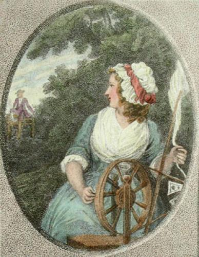 The Spinning Wheel (Restrike Etching) by Samuel Shelley