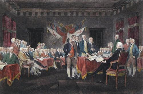 Declaration of Independence (Restrike Etching) by I. Turnbull
