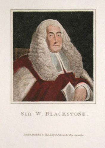Sir W. Blackstone (Restrike Etching) by Abraham Wivell