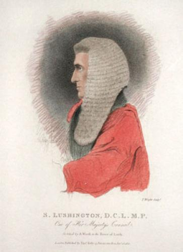 S. Lushington, D.C.L. MP (Restrike Etching) by Abraham Wivell