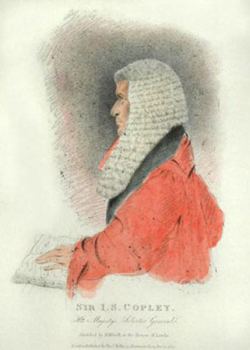 Sir I. S. Copley, S.G. (Restrike Etching) by Abraham Wivell