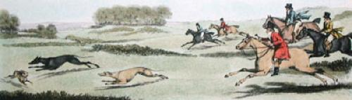 Coursing Pl. III (Restrike Etching) by James Pollard
