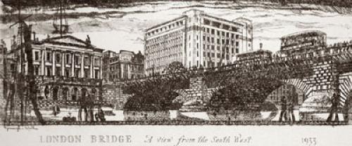 London Bridge, 1933 (Restrike Etching) by Anonymous