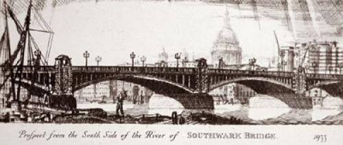 Southwark Bridge, 1933 (Restrike Etching) by Anonymous
