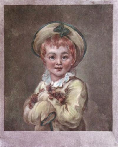 Fairheaded boy (Restrike Etching) by Jean-Honoré Fragonard