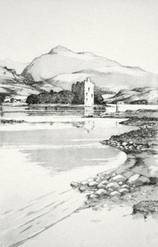 Loch Awe & Kilchurn Castle (Restrike Etching) by Anonymous