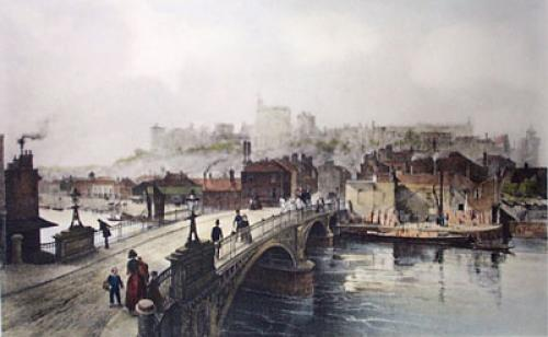 Windsor from Eton Bridge (Restrike Etching) by Alexander Carse