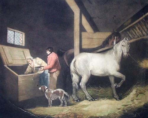 The Cornbin (Restrike Etching) by George Morland