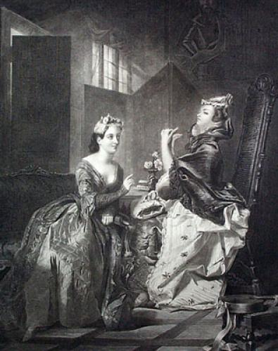 Dolly Varden & Miss Haredale (Restrike Etching) by William Powell Frith