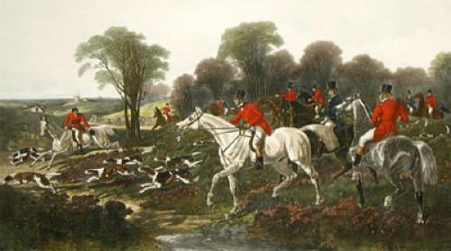 Breaking Cover (Restrike Etching) by John Frederick Herring