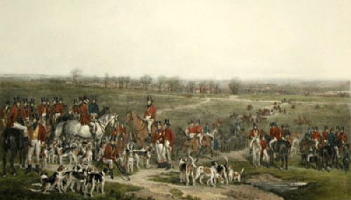 Hounds on Ascot Heath (Restrike Etching) by Sir Francis Grant