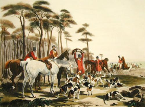 The Death (Restrike Etching) by John Frederick Herring