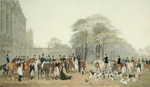 The Meet at Badminton (Restrike Etching) by William Barraud