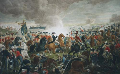 Battle of Waterloo Plate I (Restrike Etching) by Alexander Sauerweid