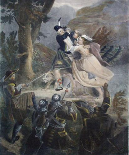 Escape of Alastaire Macdonald (Restrike Etching) by Fanny McIan