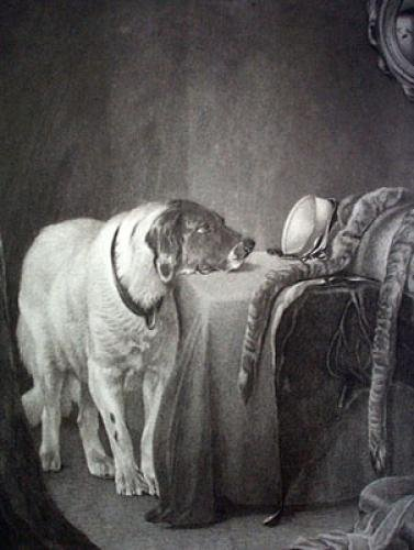 Faithful Companion (Restrike Etching) by E. Grimston