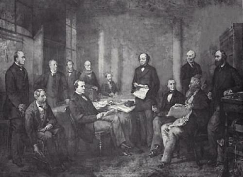 Beaconsfield Cabinet (Restrike Etching) by Charles John Mercier