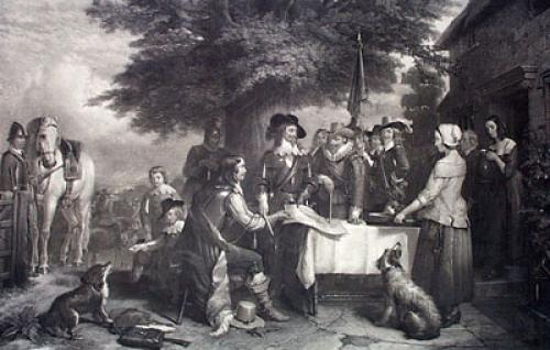 Battle of Edge Hill, Charles I (Restrike Etching) by Sir Edwin Henry Landseer
