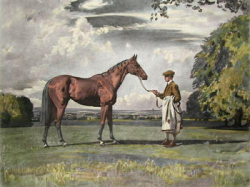 Dorina (Restrike Etching) by Sir Alfred Munnings