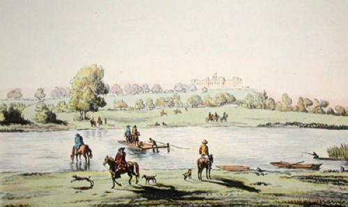 Datchet Mead & Ferry (Restrike Etching) by F.W. Fairhurst