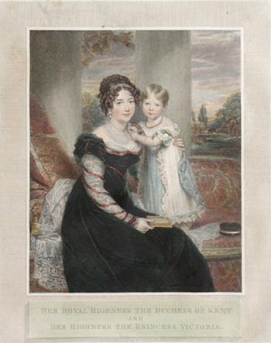 Queen Victoria (as child) (Restrike Etching) by Sir William Beechey