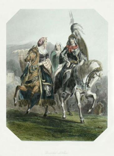Boabil-El-Clico (Restrike Etching) by Edward Henry Corbould