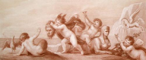 Cherubs (Restrike Etching) by Giovanni Battista Cipiriani