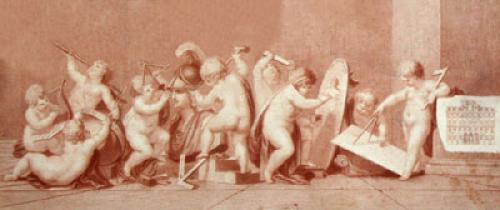 The Fine Arts (Restrike Etching) by Giovanni Battista Cipiriani