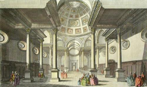 Church of St. Stephen Wallbrook (Restrike Etching) by Thomas Bowles