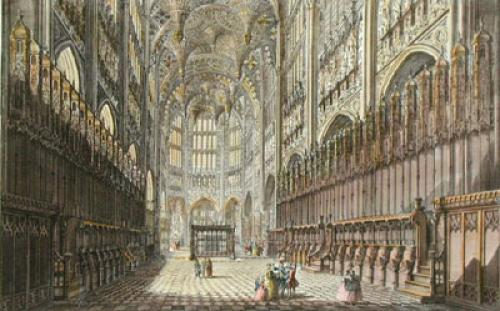 Westminster Abbey, Henry VII (Restrike Etching) by Anonymous