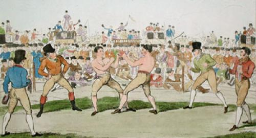Great Match, Randell & Martin (Restrike Etching) by Anonymous