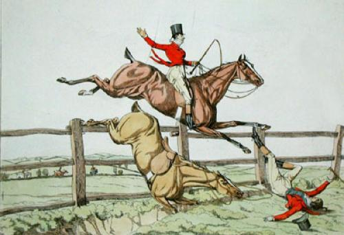How to take the lead (Restrike Etching) by Anonymous
