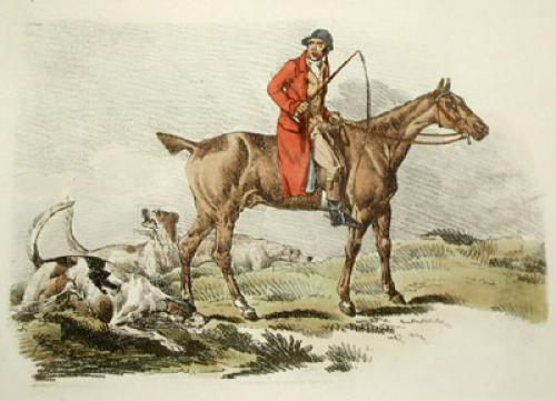 The Fox Hunter (Restrike Etching) by Anonymous