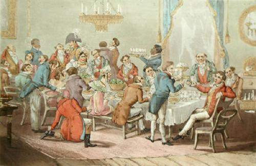 Dinner Party (Restrike Etching) by Anonymous