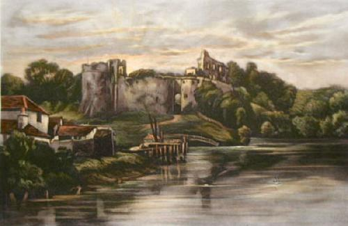 Chepstow Castle, Mommouthshire (Restrike Etching) by Anonymous