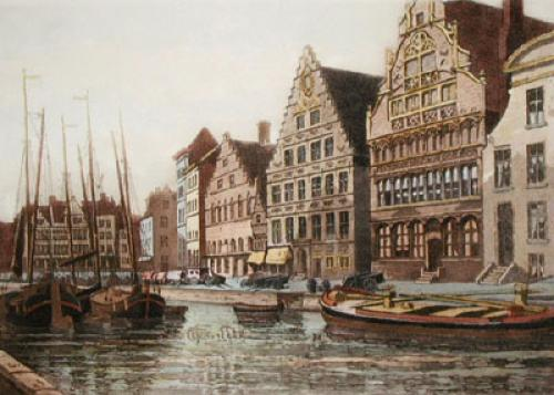 Ghent (Restrike Etching) by Anonymous
