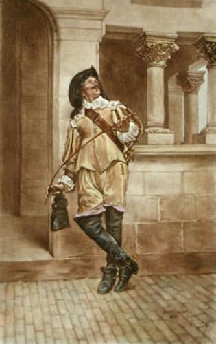Cavalier (with Riding Crop) (Restrike Etching) by Jean-Louis Ernest Meissonier