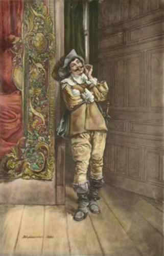 Cavalier (Twirling Moustache) (Restrike Etching) by Jean-Louis Ernest Meissonier